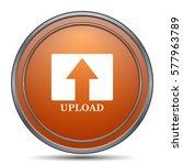 Upload Icon. Orange Internet...