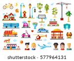 urban objects and models vector ... | Shutterstock .eps vector #577964131
