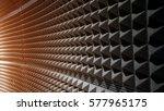 close up sound absorption ... | Shutterstock . vector #577965175