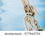Sailing Boat Pulley  Block And...