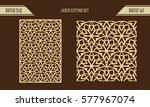 diy laser cutting set. woodcut... | Shutterstock .eps vector #577967074