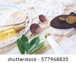 fashion blogger concept. set of ... | Shutterstock . vector #577968835