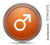 male sign icon. orange internet ... | Shutterstock . vector #577972771
