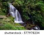 waterfall in cipamingkis ... | Shutterstock . vector #577978234