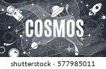 vector flat cosmos design... | Shutterstock .eps vector #577985011