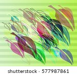 leaf background design | Shutterstock .eps vector #577987861