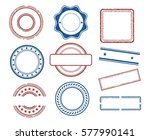 set of various blank stamps | Shutterstock .eps vector #577990141