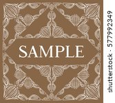 frame. decorative element.  | Shutterstock .eps vector #577992349