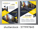 business brochure. flyer design.... | Shutterstock .eps vector #577997845