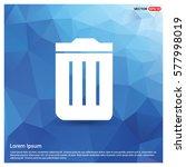 trash bin icon | Shutterstock .eps vector #577998019