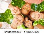 interracial children make a... | Shutterstock . vector #578000521