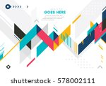 vector of modern abstract... | Shutterstock .eps vector #578002111