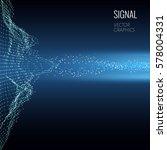 concept design of signal... | Shutterstock .eps vector #578004331