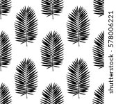 seamless pattern of palm leaves ... | Shutterstock .eps vector #578006221