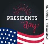 vector presidents day card.... | Shutterstock .eps vector #578008789