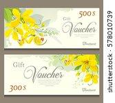 gift voucher flower of thailand ... | Shutterstock .eps vector #578010739