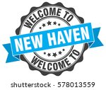 new haven. welcome to new haven ... | Shutterstock .eps vector #578013559