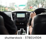 driving car with gps tracker... | Shutterstock . vector #578014504