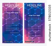 leaflet flyer layout. magazine... | Shutterstock .eps vector #578015335