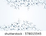 structure molecule and... | Shutterstock .eps vector #578015545