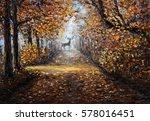 original  oil painting of... | Shutterstock . vector #578016451