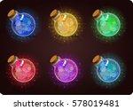 shine bottles. game icon of... | Shutterstock .eps vector #578019481