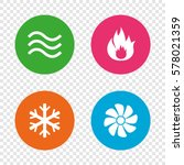 hvac icons. heating ... | Shutterstock .eps vector #578021359