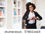 business black woman doing... | Shutterstock . vector #578021665