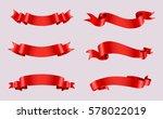 ribbon banner set.vector red... | Shutterstock .eps vector #578022019
