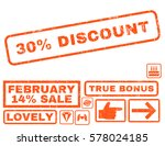 30 percent discount text rubber ... | Shutterstock .eps vector #578024185