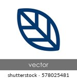 leaf icon | Shutterstock .eps vector #578025481
