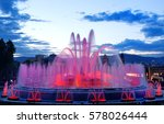 barcelona magic fountain in... | Shutterstock . vector #578026444