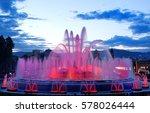 barcelona magic fountain in... | Shutterstock . vector #578026444