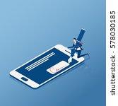 flat isometric. digital... | Shutterstock .eps vector #578030185