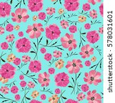 seamless pattern delicate... | Shutterstock . vector #578031601