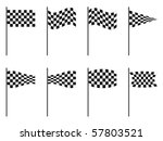 checkered flags collection... | Shutterstock .eps vector #57803521