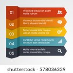 steps infographic banner with... | Shutterstock .eps vector #578036329