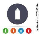 condom safe sex sign icon. safe ... | Shutterstock .eps vector #578039344