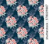 seamless delicate pattern of...   Shutterstock .eps vector #578039887