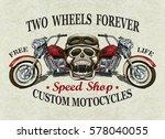 vintage custom motorcycle ... | Shutterstock .eps vector #578040055
