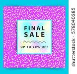 final sale banner. square....   Shutterstock .eps vector #578040385