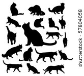 Stock vector vector cats silhouettes 57804058