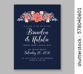 wedding invitation card with... | Shutterstock .eps vector #578040601