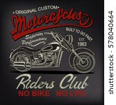 vintage  motorcycle  poster   t ... | Shutterstock .eps vector #578040664