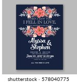 wedding invitation card with... | Shutterstock .eps vector #578040775