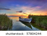 The Boat In The Landscape Of...
