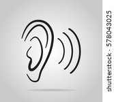 ear icon  hearing and ear icon | Shutterstock .eps vector #578043025