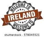 ireland. welcome to ireland... | Shutterstock .eps vector #578045521