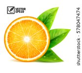 realistic vector set of... | Shutterstock .eps vector #578047474