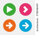 arrow icons. next navigation... | Shutterstock .eps vector #578048449